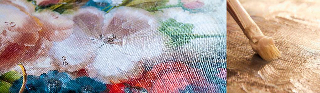 Обработка картин текстурным (фактурным) гелем