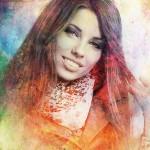 Гранж портрет цветной