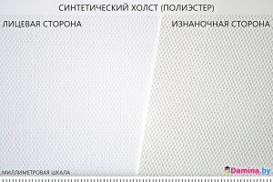 Фотография текстуры холста из полиэстера